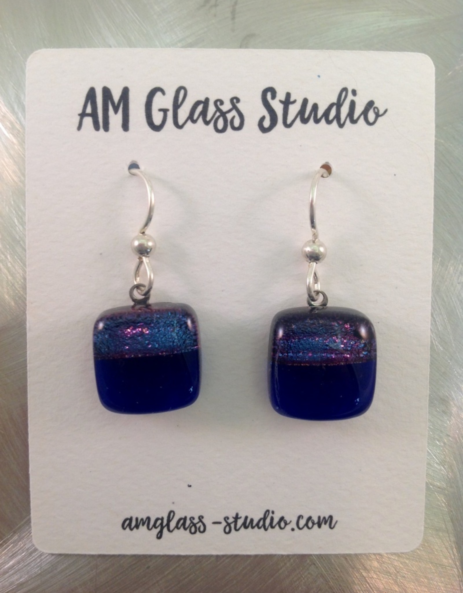 Ann Mackiernan Fused Glass Earrings Medium - M5