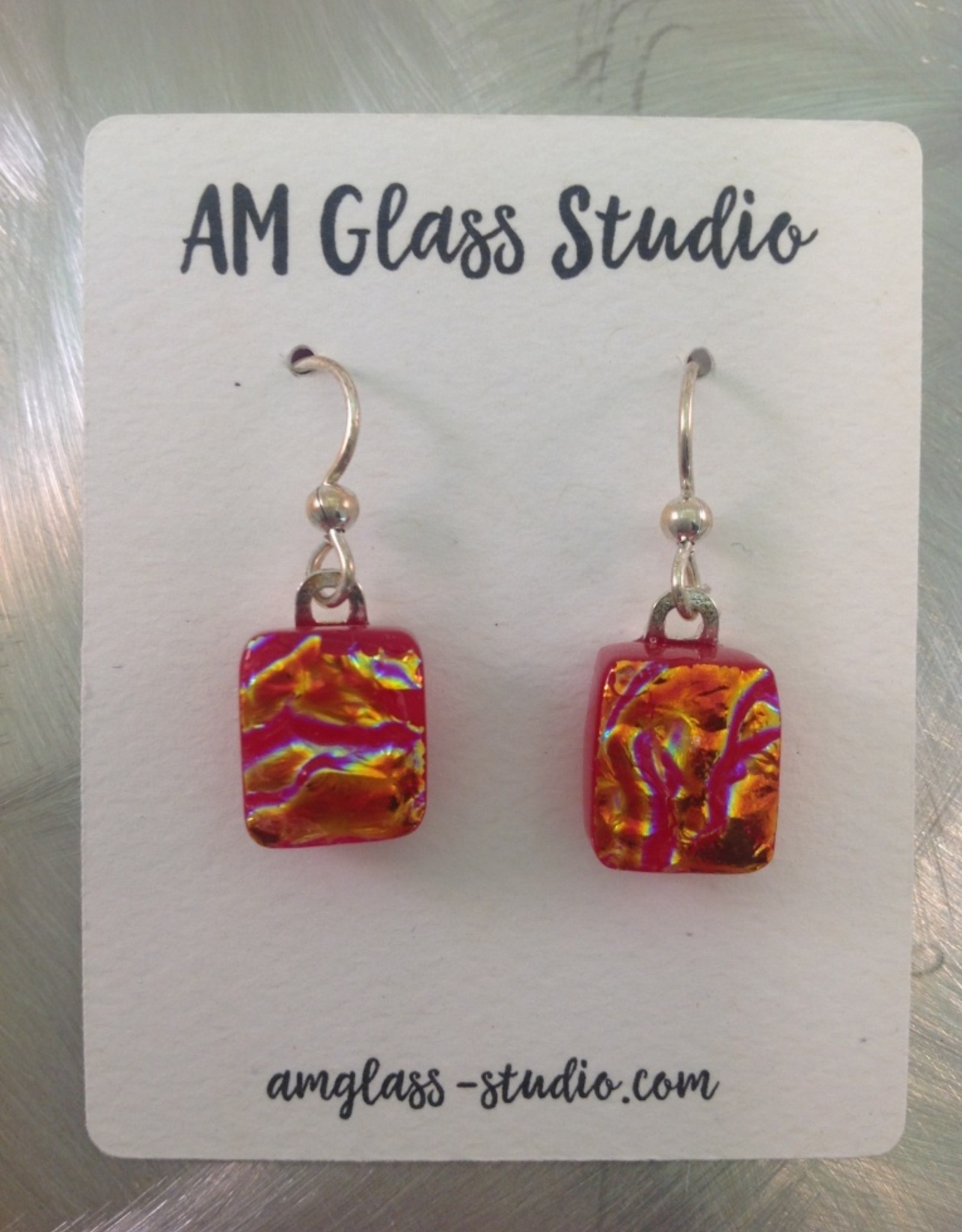 Ann Mackiernan Fused glass Earrings Medium - M7