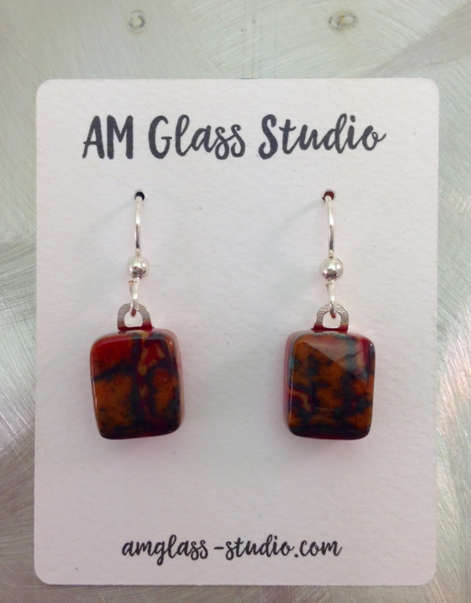 Ann Mackiernan Fused glass Earrings Medium - M8