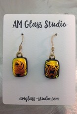 Ann Mackiernan Fused Glass Earrings Medium - M9