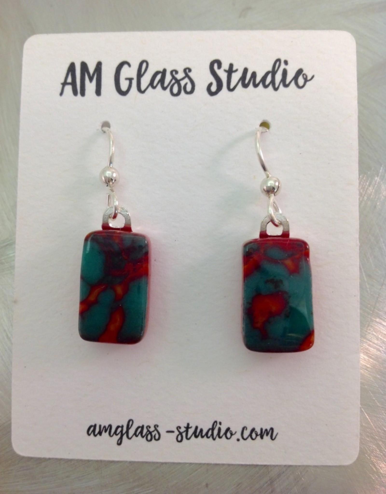 Ann Mackiernan Fused glass Earrings Medium -M10
