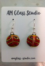 Ann Mackiernan Fused Glass Earrings Medium - M11