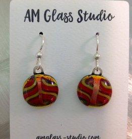 Ann Mackiernan Fused Glass Earrings Medium - M11