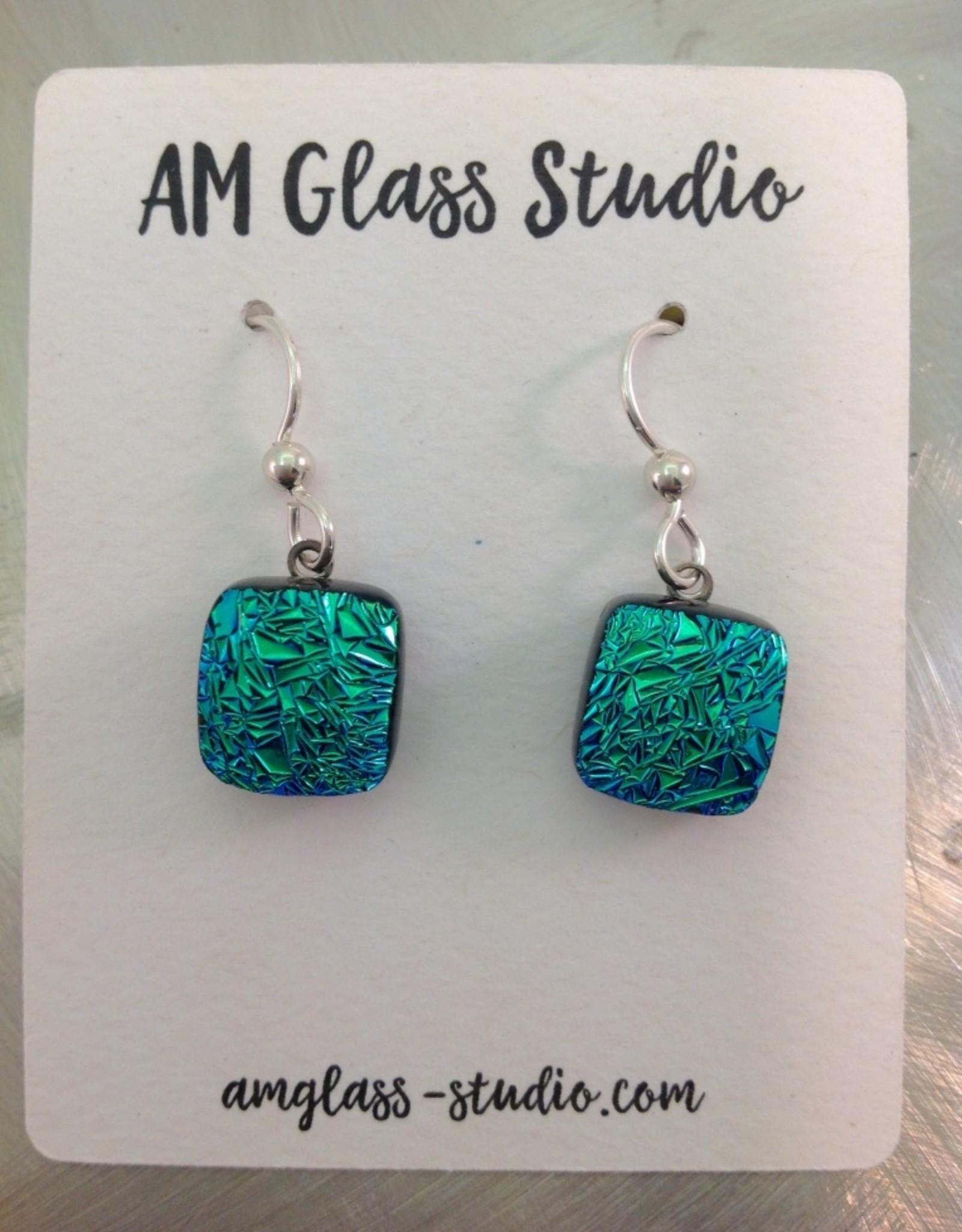 Ann Mackiernan Fused Glass Earrings Medium - M12