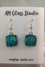 Ann Mackiernan Fused Glass Earrings Medium - M13