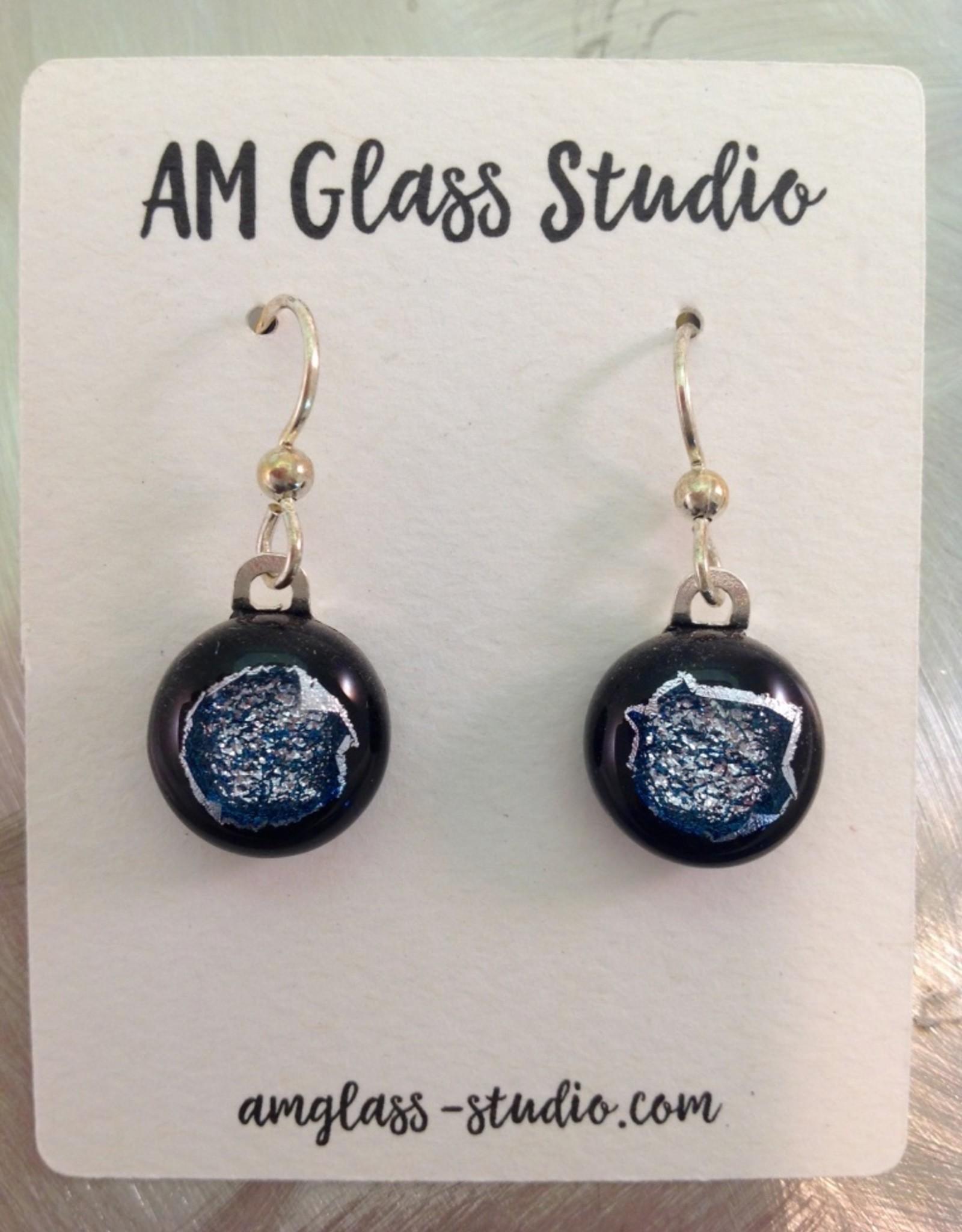Ann Mackiernan Fused Glass Earrings Medium - M16