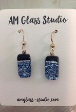 Ann Mackiernan Fused glass Earrings Medium - M17