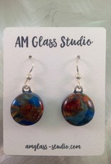 Ann Mackiernan Fused Glass Earrings Large - L1