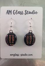 Ann Mackiernan Fused Glass Earrings Large - L2