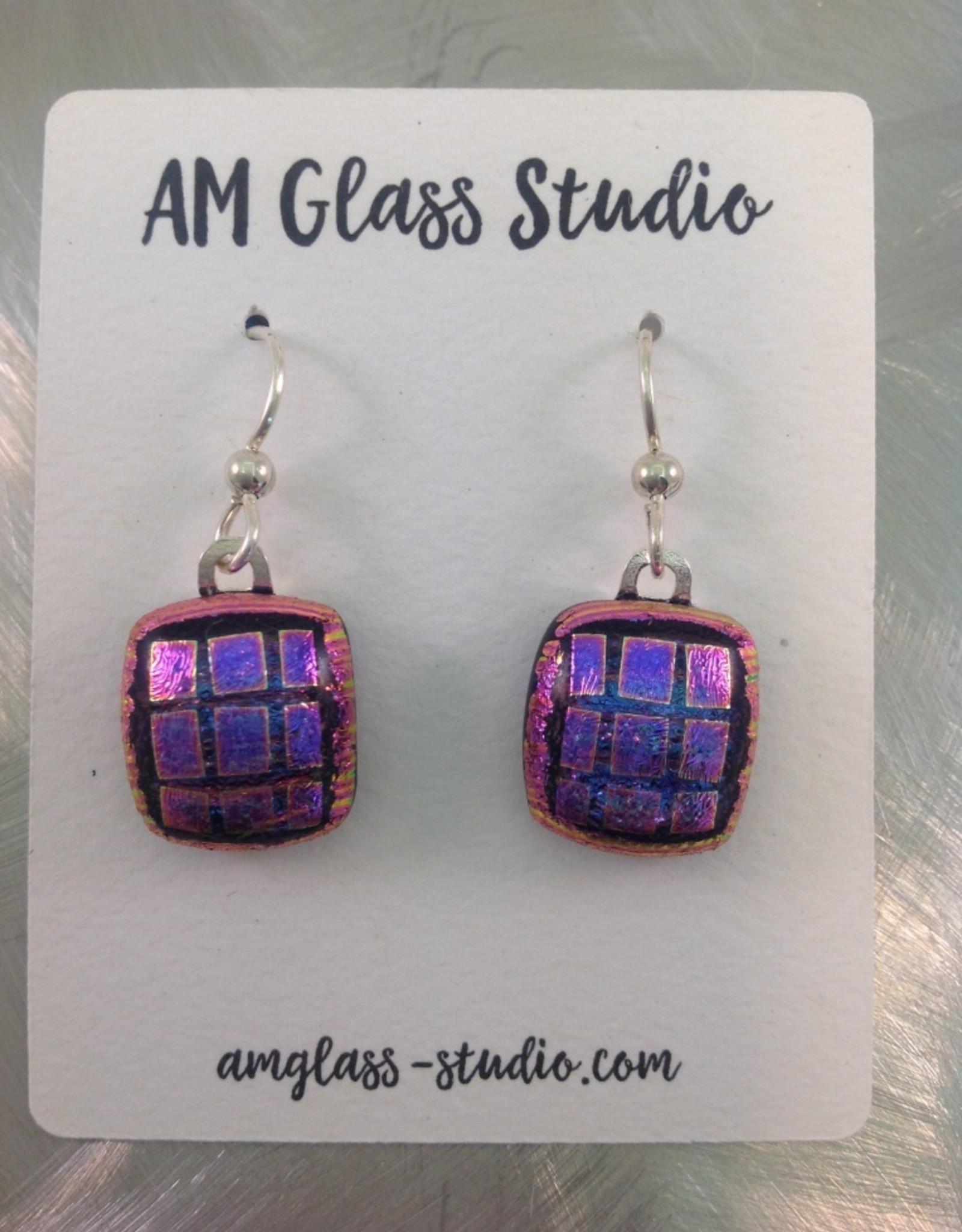 Ann Mackiernan Fused Glass Earrings Large - L3