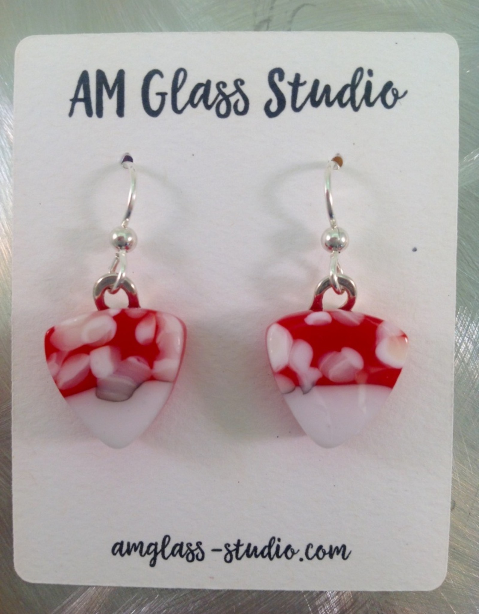 Ann Mackiernan Fused Glass Earrings Large - L4