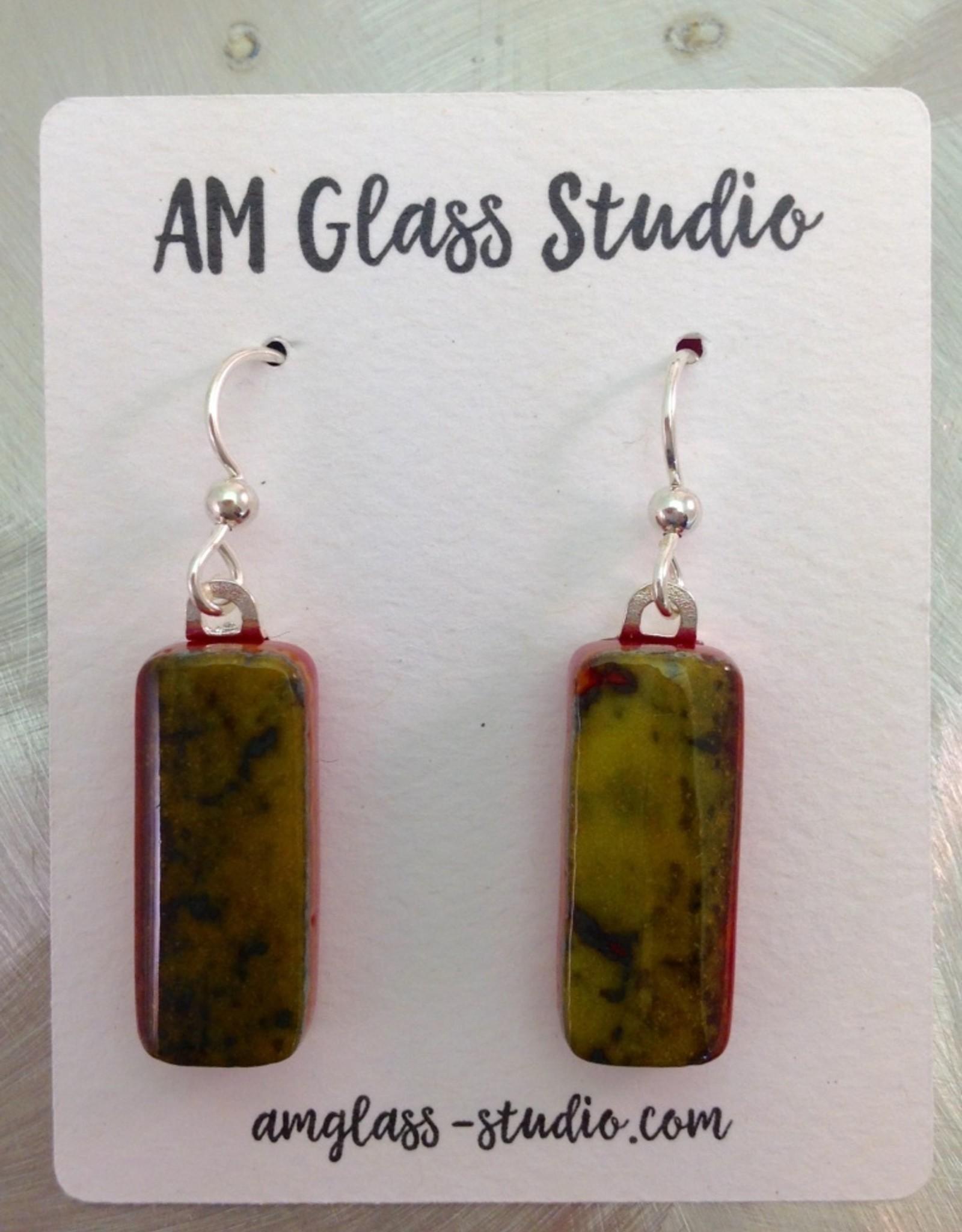 Ann Mackiernan Fused Glass Earrings Large - L7