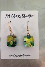Ann Mackiernan Fused Glass Earrings Large - L8
