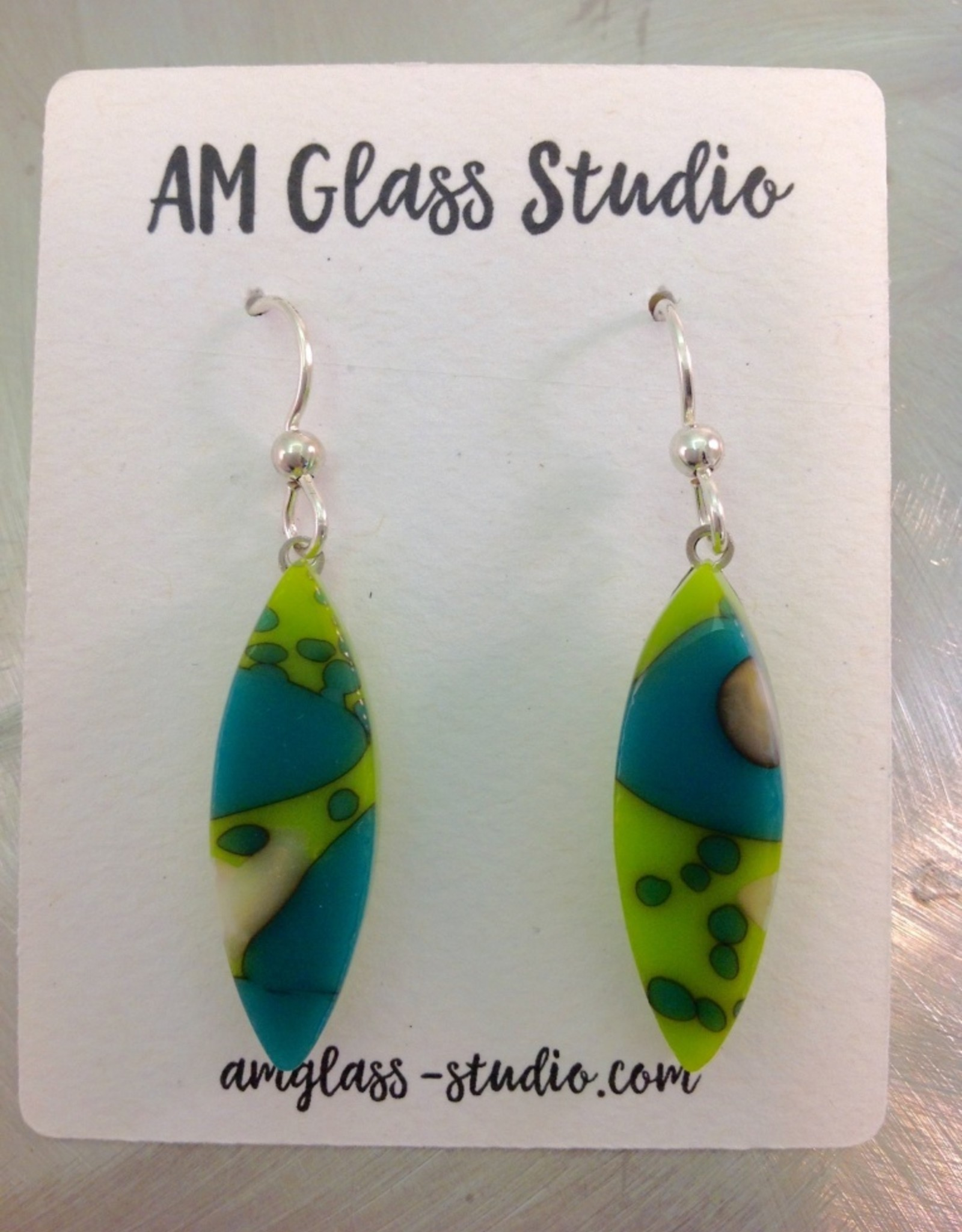 Ann Mackiernan Fused Glass Earrings Large - L9