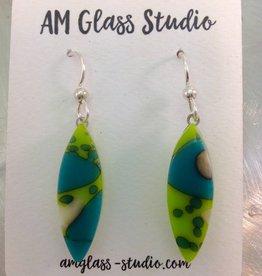 Ann Mackiernan Fused Glass Earrings Large - L9