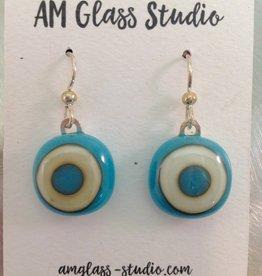 Ann Mackiernan Fused Glass Earrings Large - L11