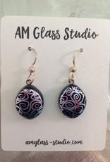 Ann Mackiernan Fused Glass Earrings Large - L12