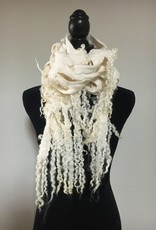 Ammi Brooks White Lattice Scarf