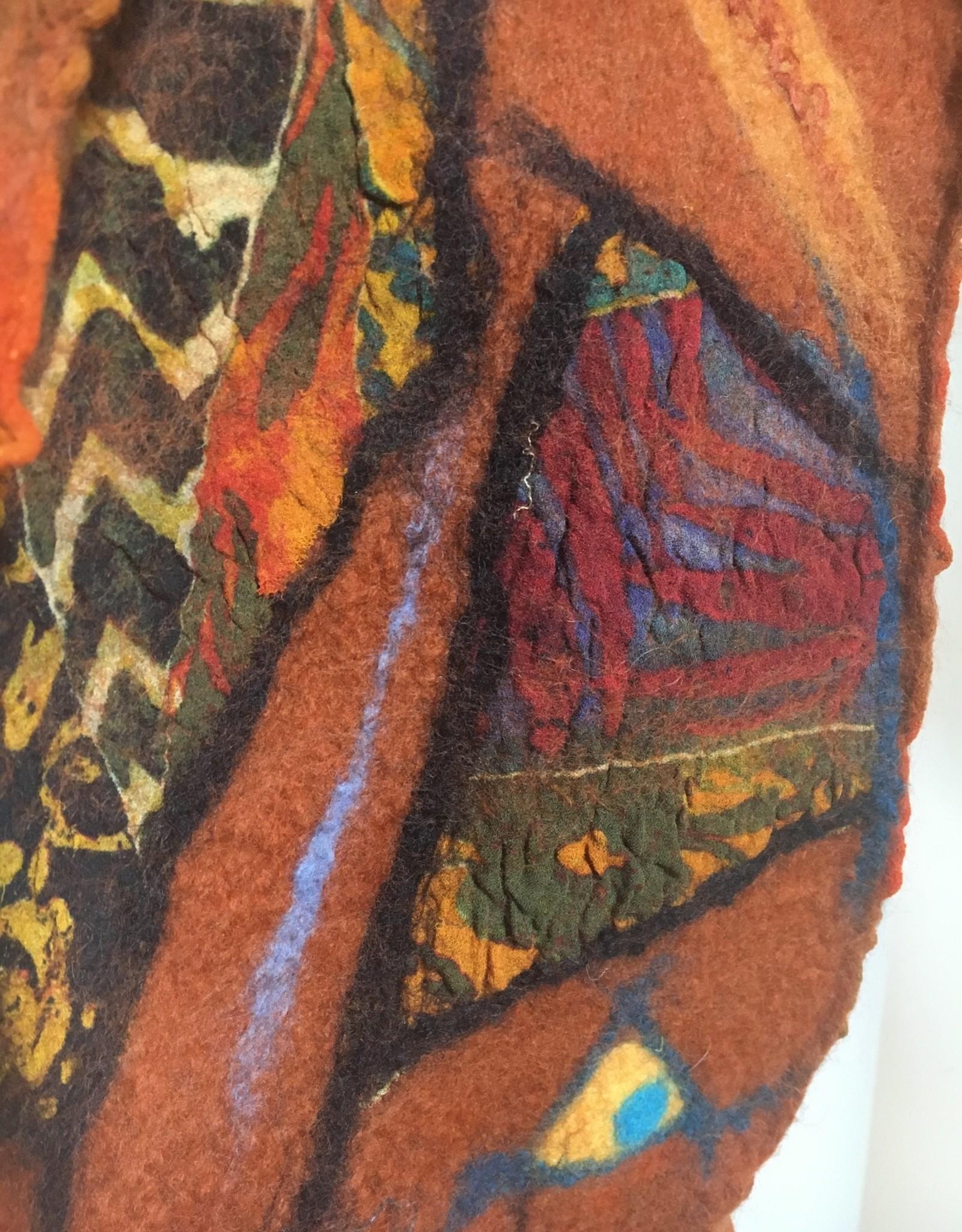 Ammi Brooks Geometric Orange Scarf