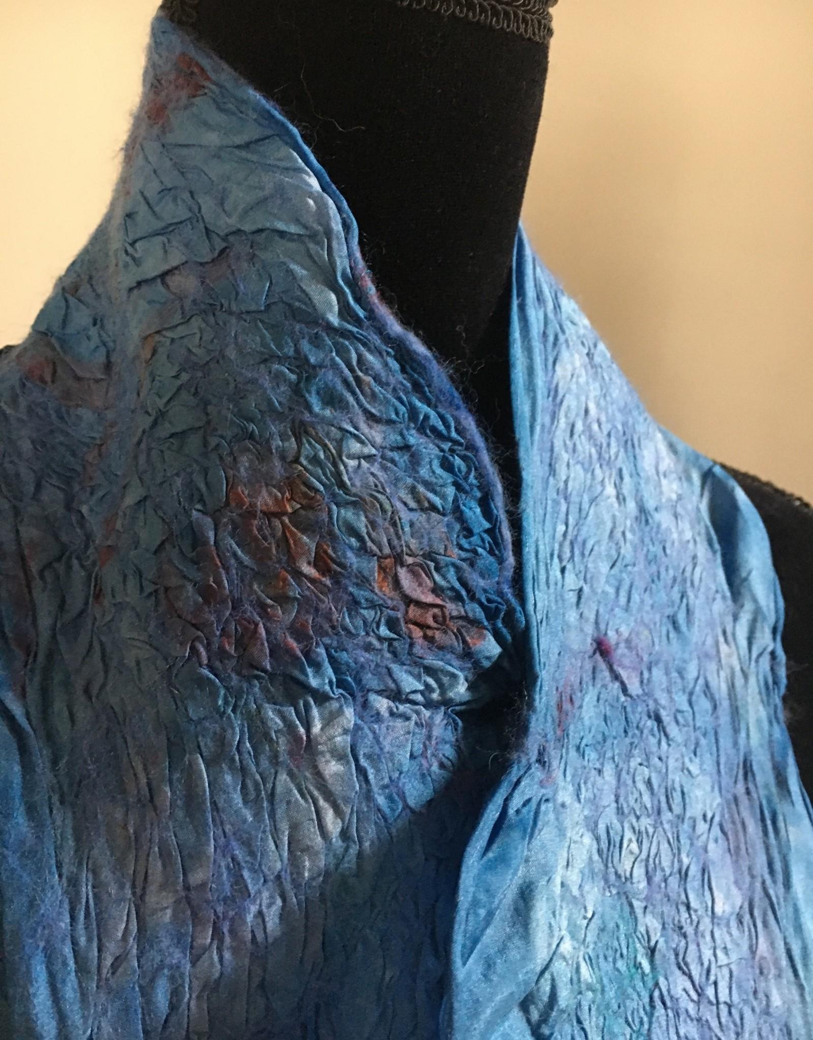 Ammi Brooks Blue China Silk Nuno Scarf