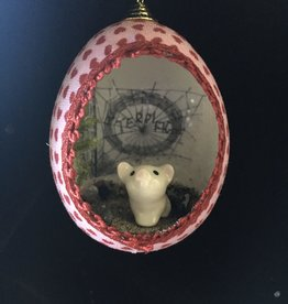 Ammi Brooks Charlotte's Web Real Egg Ornament