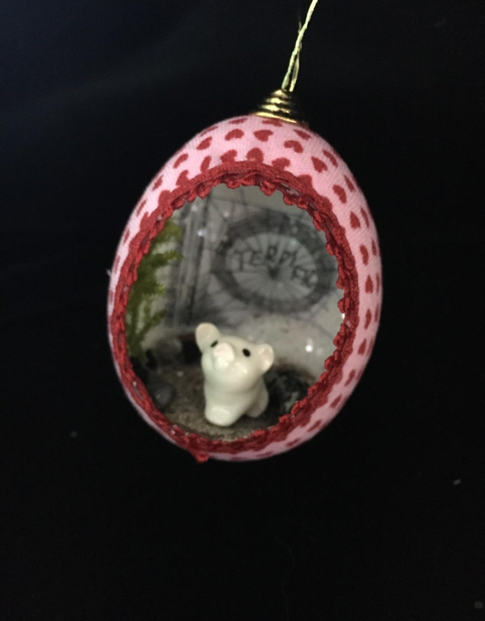 Ammi Brooks Charlotte's Web Real Egg Ornament