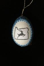 Ammi Brooks Haystack Rock Real Egg Ornament