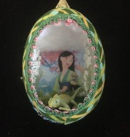 Ammi Brooks Mulan Real Egg Ornament