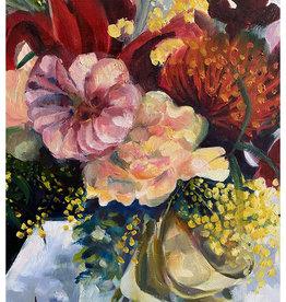 Jennifer Cook-Chrysos Chrysos Designs Artworks, Birthday Flowers 1, oil on canvas, framed, 16 x 20