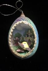 Ammi Brooks Curious George Real Egg Ornament
