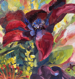 "Jennifer Cook-Chrysos Chrysos Designs Artworks, ""Birthday Flowers 2"", oil on canvas, 11 x 14, framed"