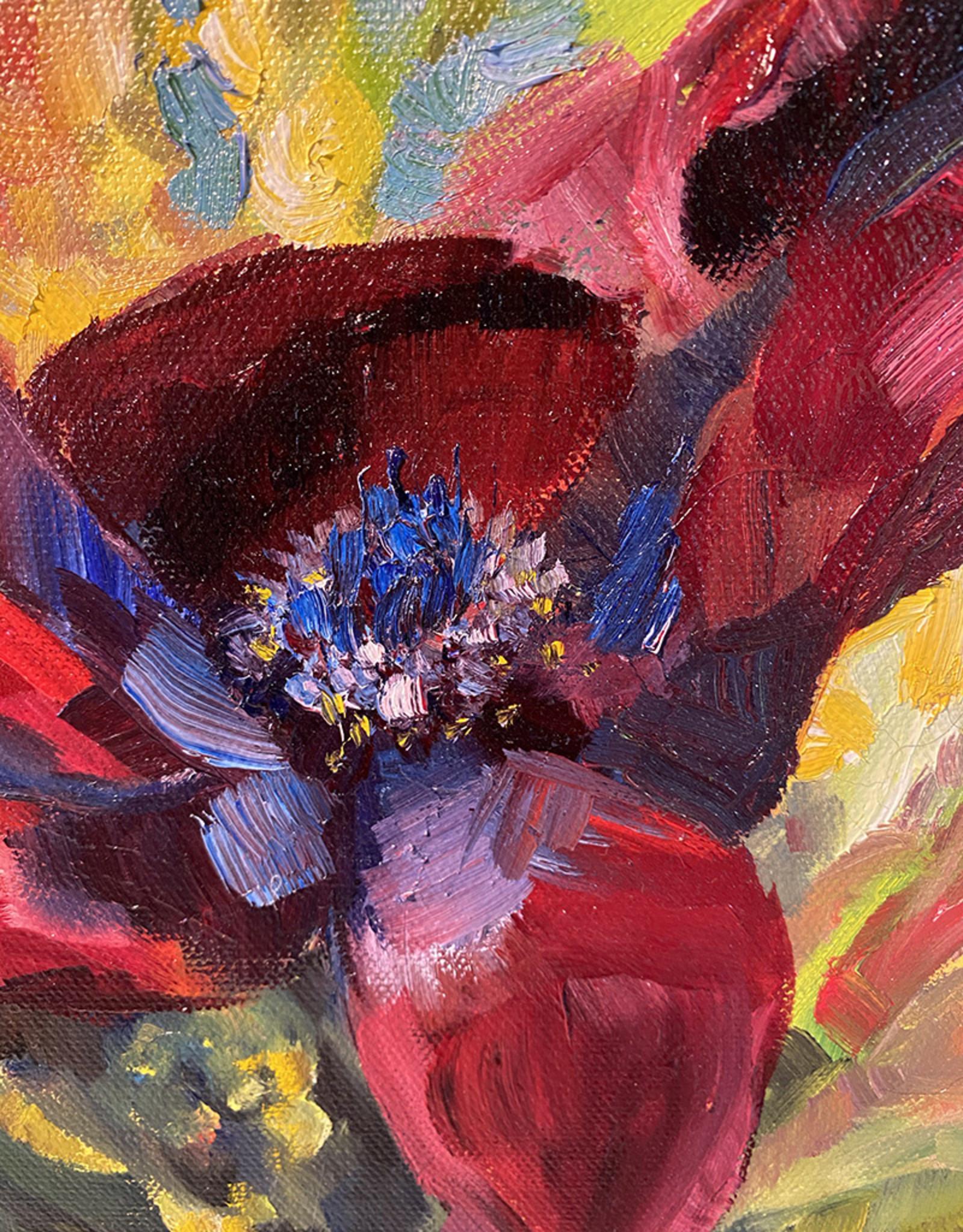 "Jennifer Cook-Chrysos Chrysos Designs Artworks, ""Birthday Flowers 2"", oil on canvas, 11 x 14, framed"