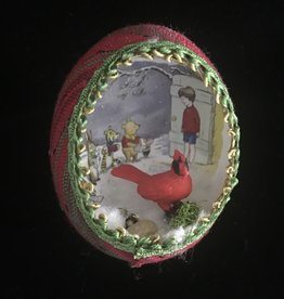Ammi Brooks Winnie the Pooh Real Egg Ornament Cardinal