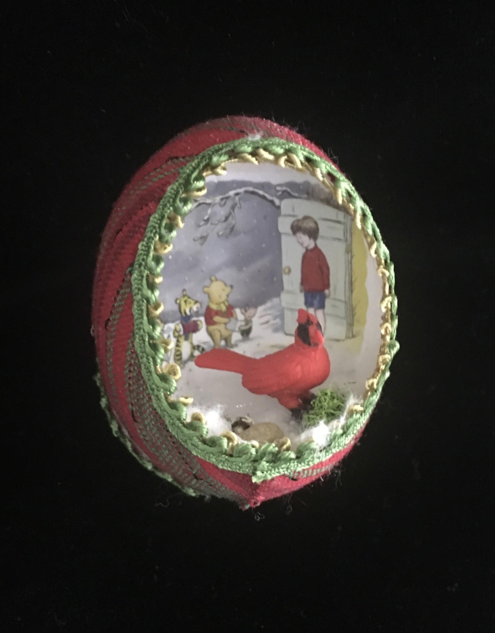 Ammi Brooks Winnie the Pooh Real Egg Ornament Cardinal