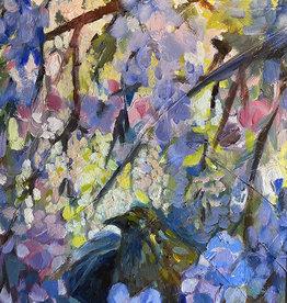 "Jennifer Cook-Chrysos Chrysos Designs Artworks, ""Nest"" 11 x 14, oil on canvas, framed"