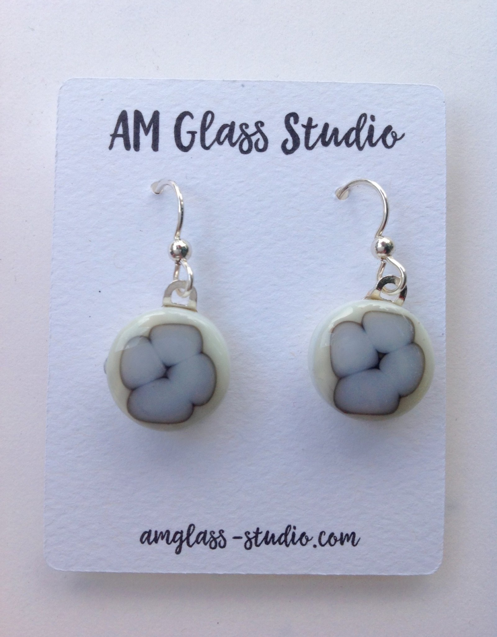 Ann Mackiernan Fused Glass Earrings Medium - M18