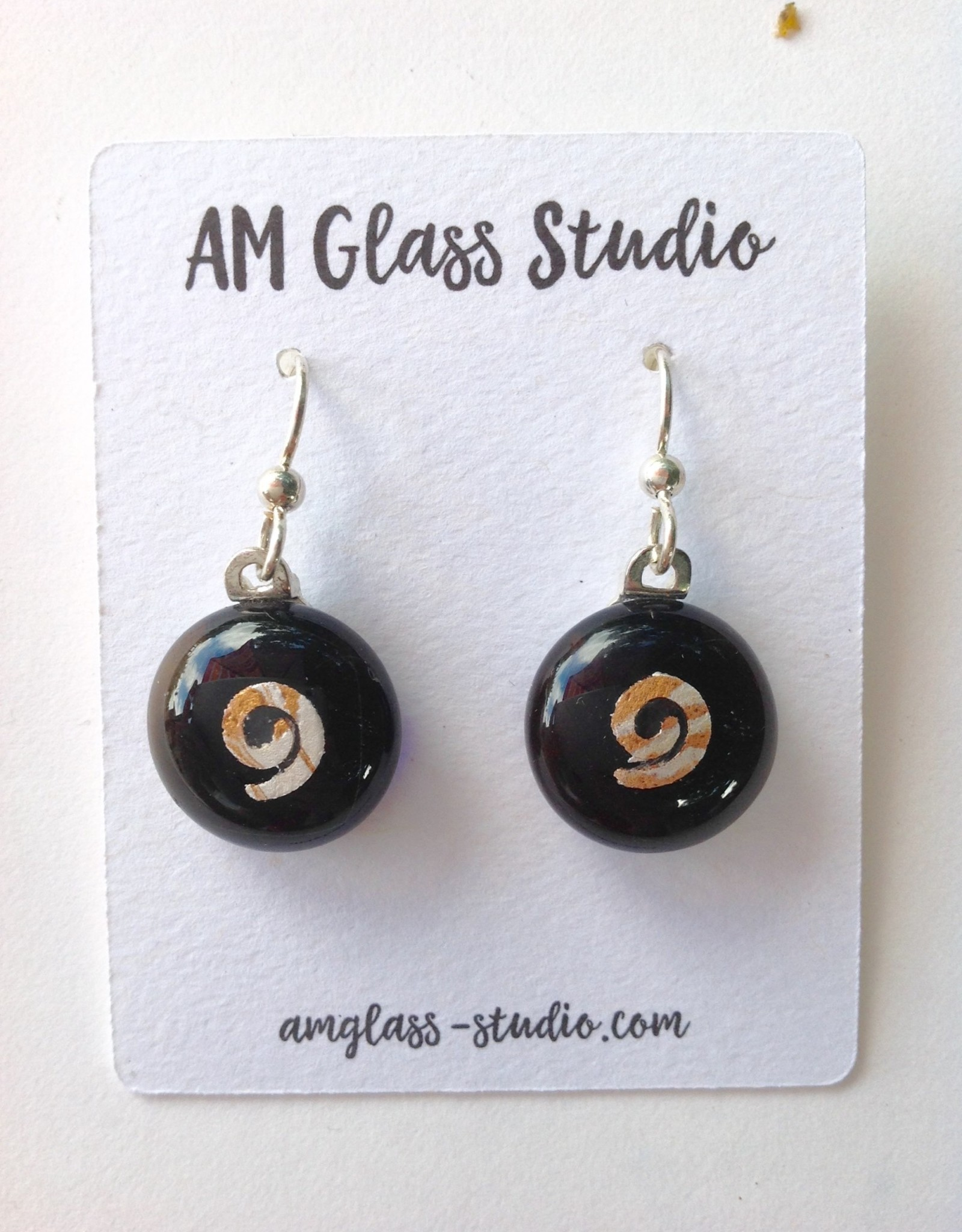 Ann Mackiernan Fused Glass Earrings Medium - M21