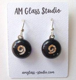 Ann Mackiernan Fused Glass Earrings Medium - M21