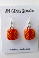Ann Mackiernan Fused Glass Earrings Medium - M20