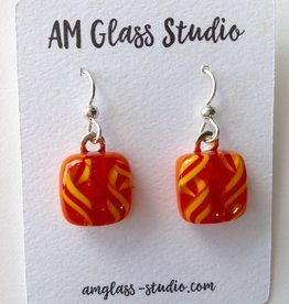 Ann Mackiernan Fused Glass Earrings Medium - M20