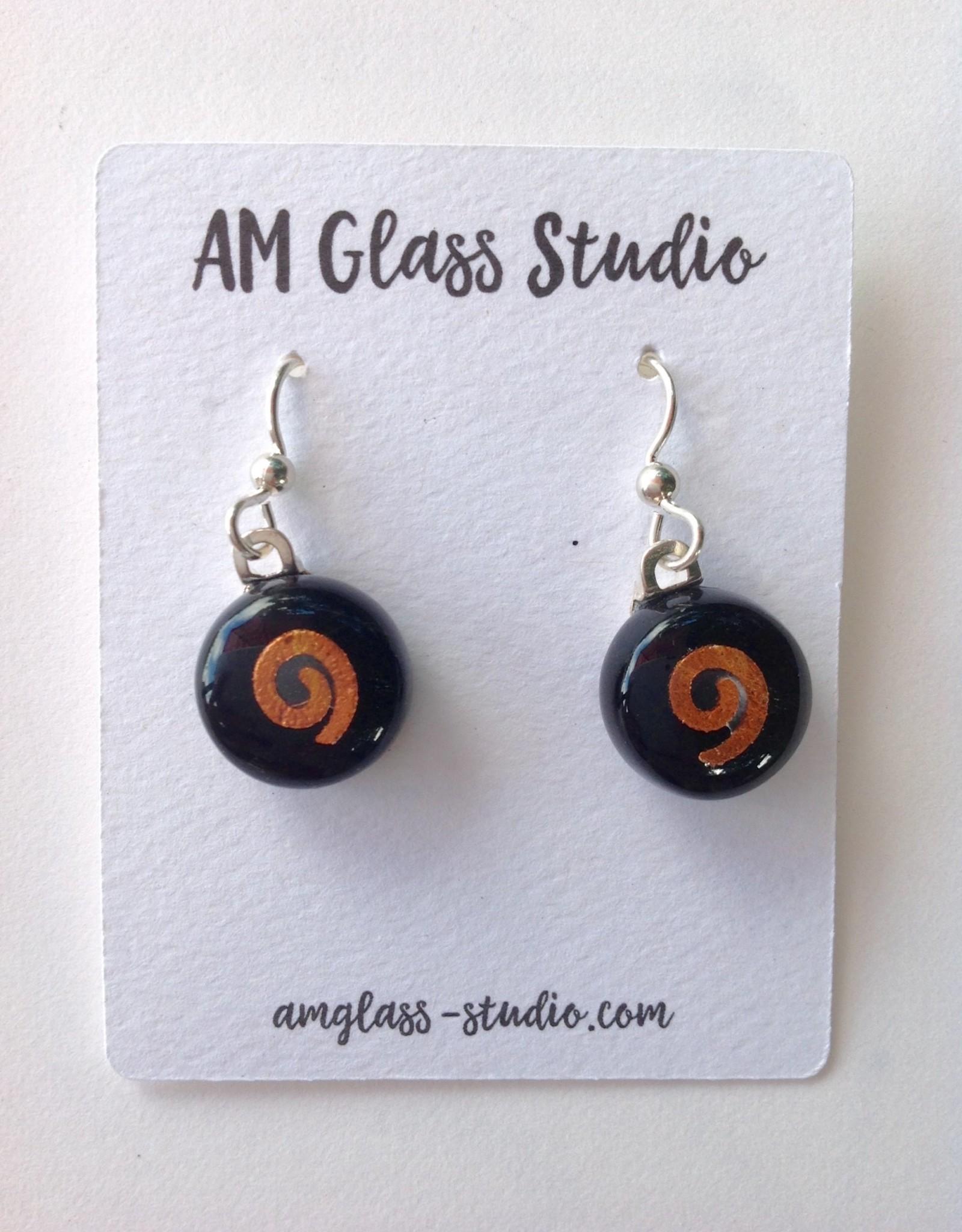 Ann Mackiernan Fused Glass Earrings Medium - M22
