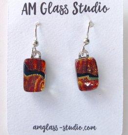 Ann Mackiernan Fused Glass Earrings Medium - M23