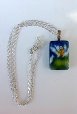 Ann Mackiernan Fused Glass Pendant Large - L12