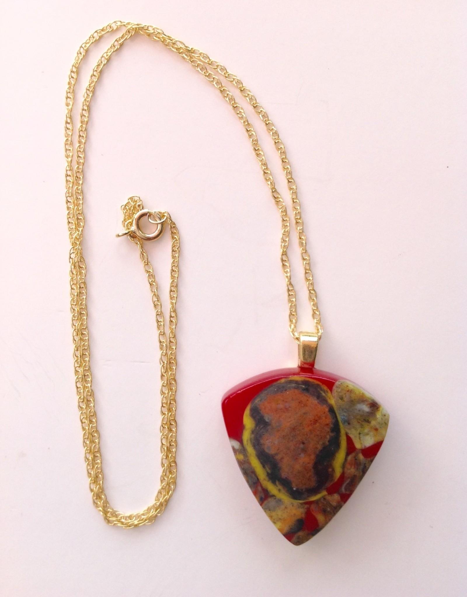 Ann Mackiernan Fused Glass Medium Pendant - M6