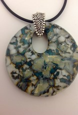 Ann Mackiernan Fused Glass Disc Pendant - 1