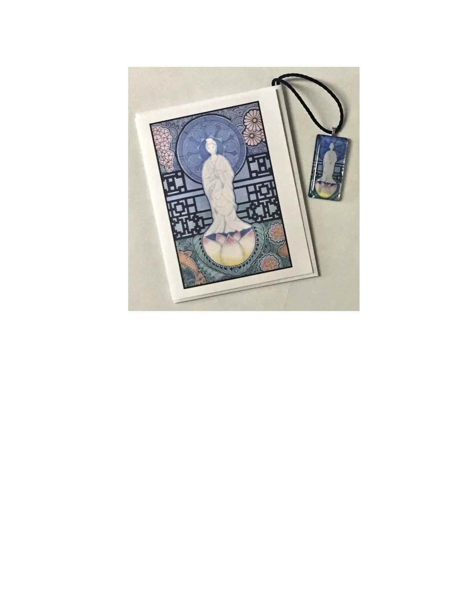 Kelly Casperson Kwan Yin pendant & card set