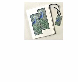 Kelly Casperson The Peacocks pendant and card set