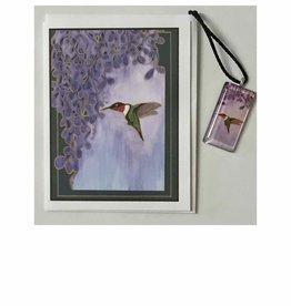 Kelly Casperson Garden Jewel pendant & card set