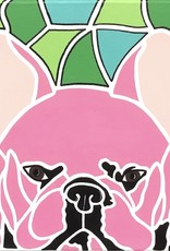 "Whitney North ""French Bulldog"" Abstract Acrylic Painting Original"