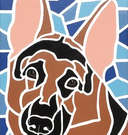 Whitney North German Shepherd Original Painting